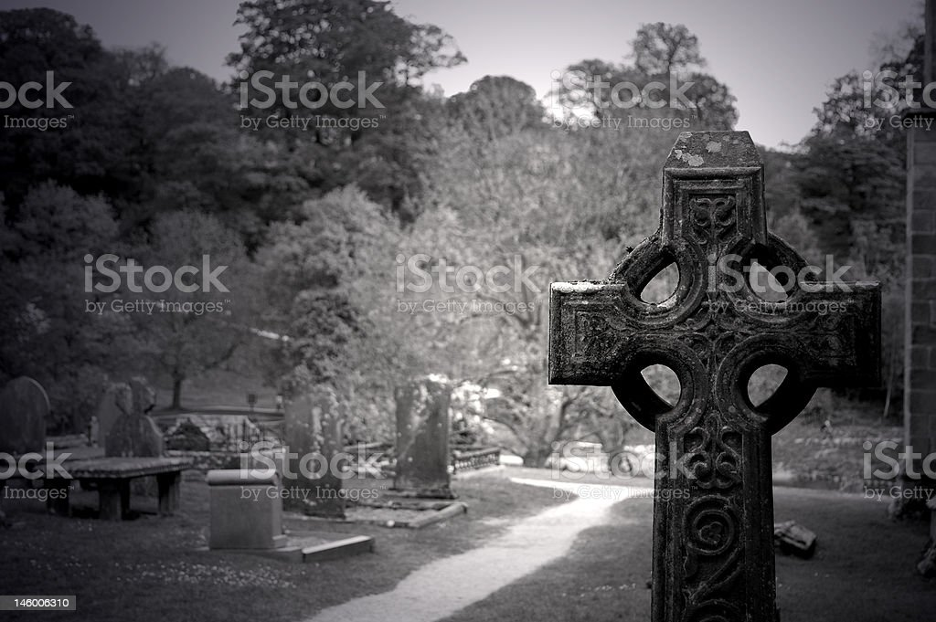 Abbey Graveyard royalty-free stock photo