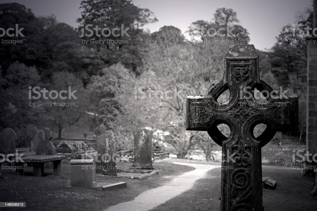 Abbey Graveyard stock photo