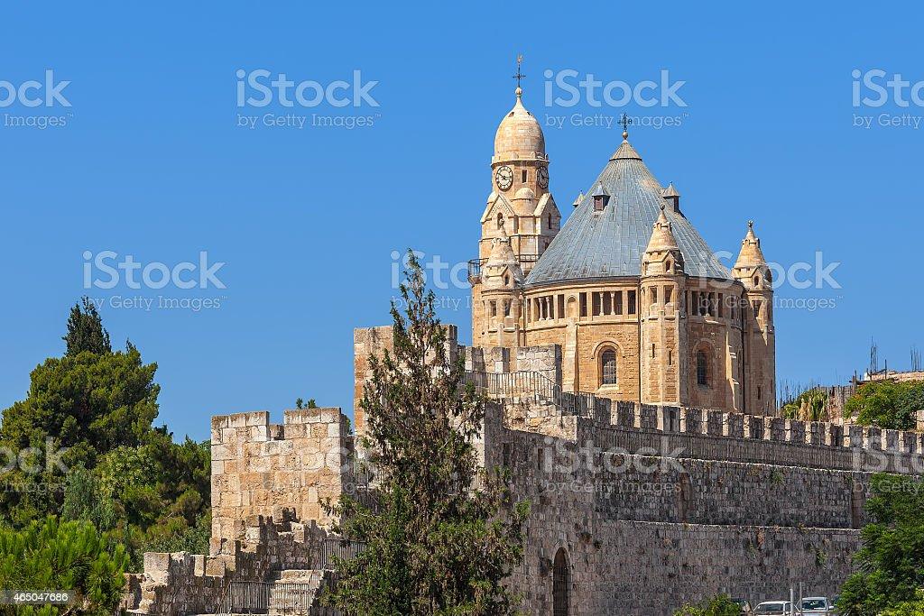 Iglesia de la dormición de Jerusalén, Israel. - foto de stock