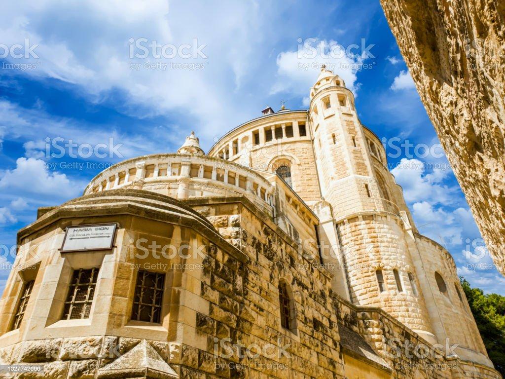 Abadía de la Dormición (iglesia del Cenáculo) en el Monte de Sión, Israel. - foto de stock