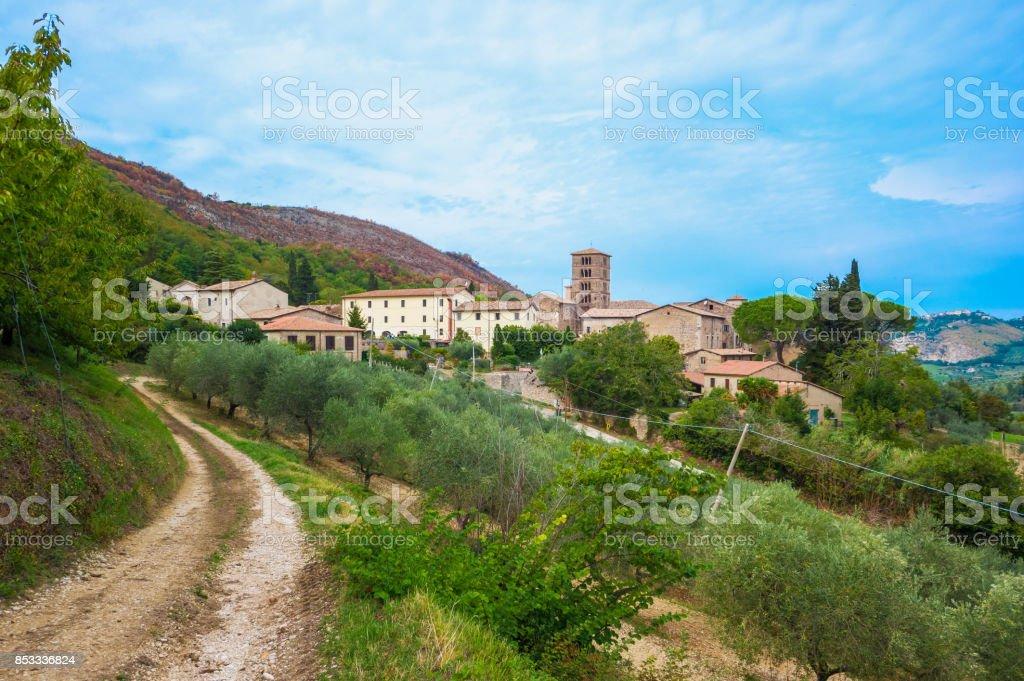 Abbey of Farfa (Lazio, Italy) stock photo