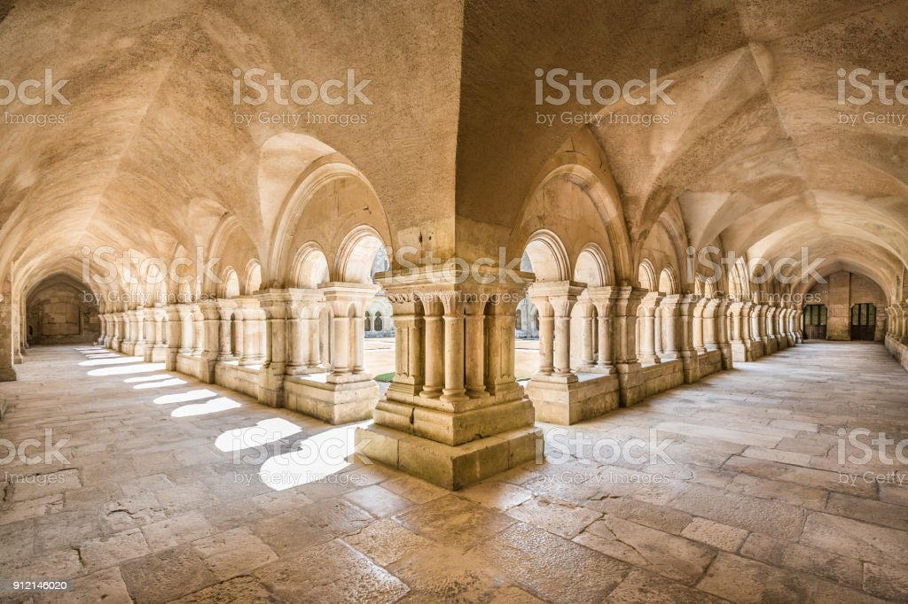 Abbey of Fontenay UNESCO World Heritage Site, Burgundy, France stock photo