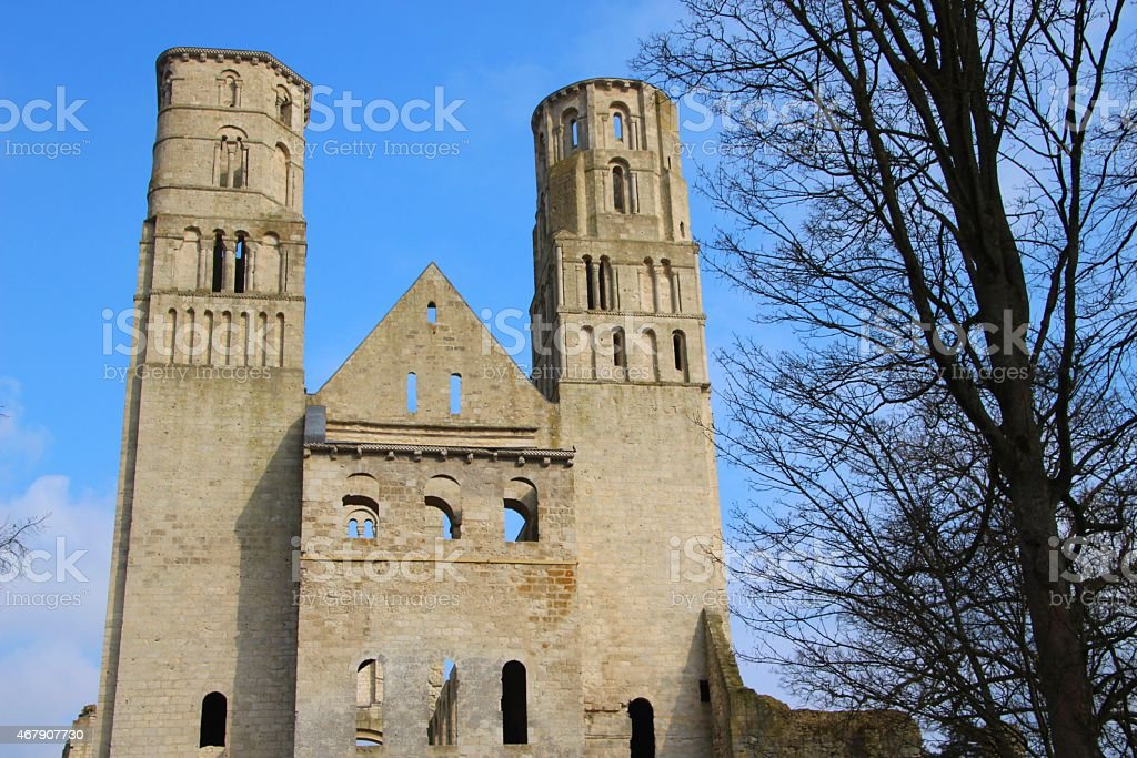 Abbey of Jumieges in Normandie - France stock photo