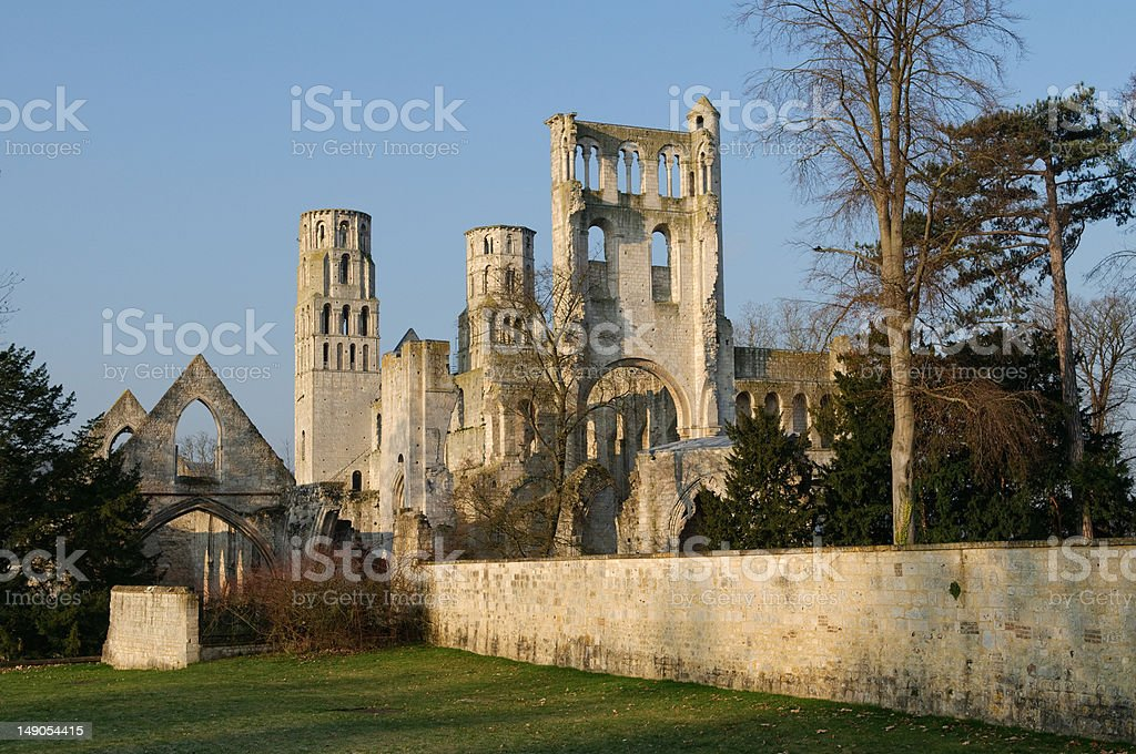 Abbey of Jumièges stock photo