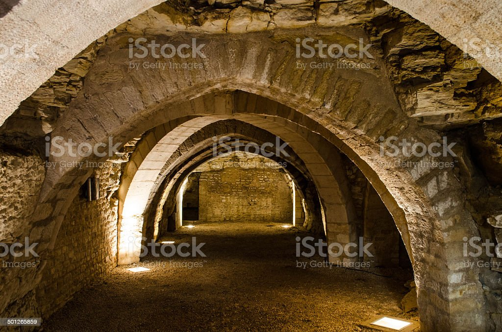 Abbey of Maillezais, France stock photo