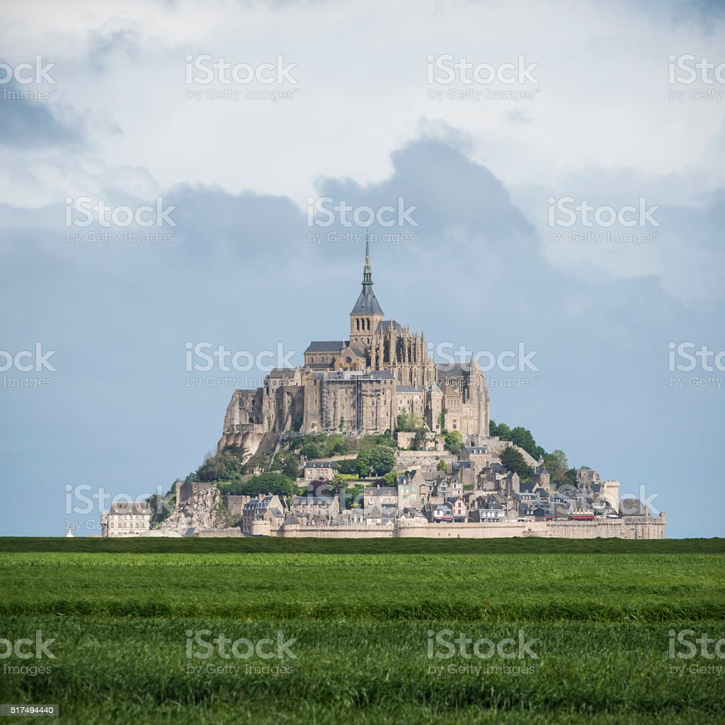 Abbey of Mont Saint-Michel in France stock photo
