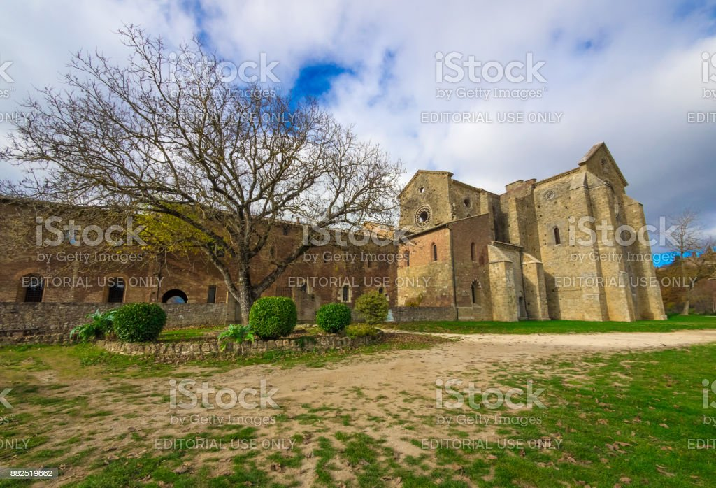 Abbey of Saint Galgano (Italy) stock photo