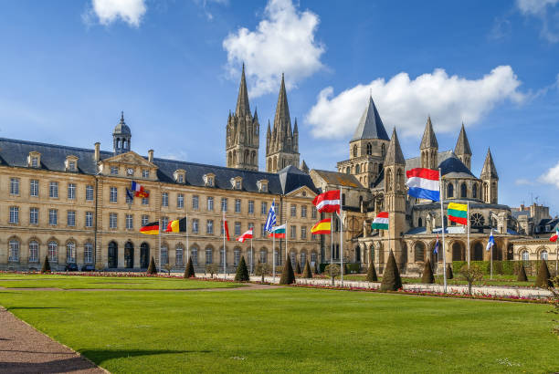 abbey of saint-etienne, caen, france - caen stock pictures, royalty-free photos & images