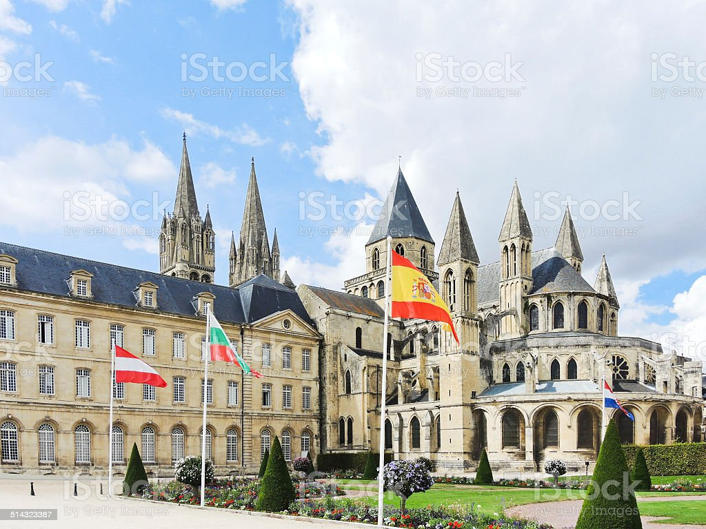 Abbey of Saint-Etienne in Caen, France stock photo