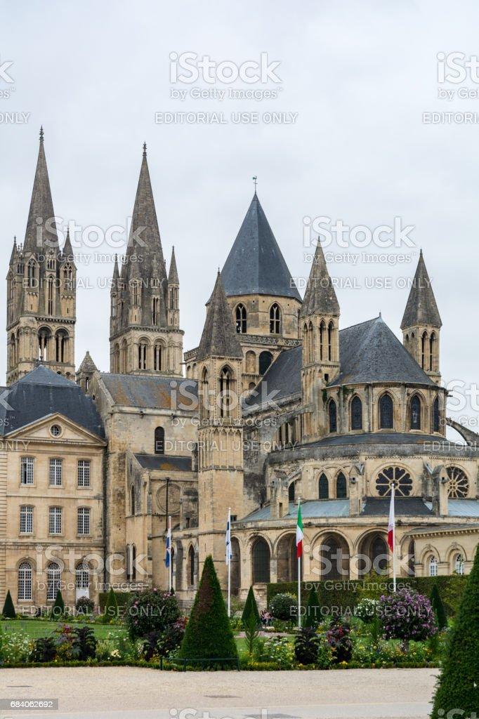 Abbey of Saint-Etienne in Caen stock photo