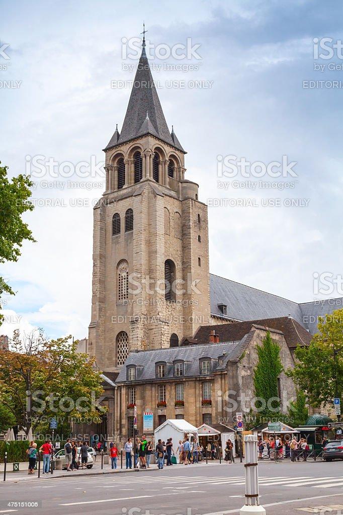 Abbey of Saint-Germain-des-Pres, Paris stock photo
