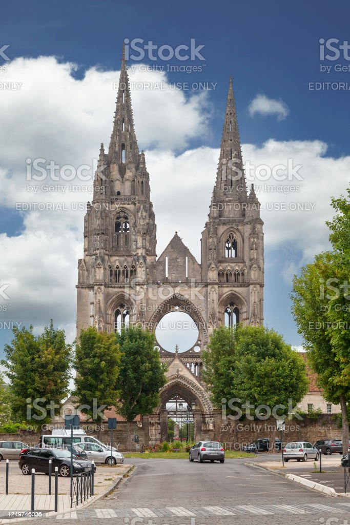 Abbey of Saint-Jean-des-Vignes in Soissons - Royalty-free Abbey - Monastery Stock Photo