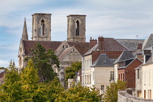 Abbey Of Saintmartin Of Laon Stock Photo - Download Image Now