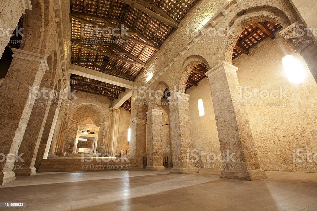 Abbey of San Clemente a Casauria stock photo