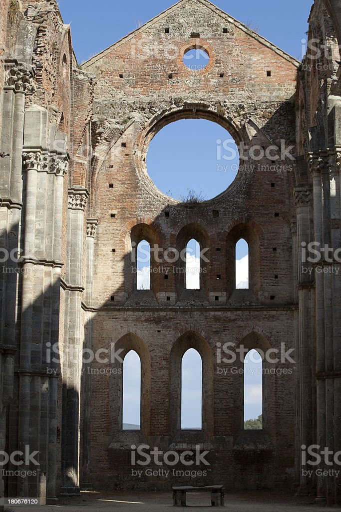 Abbey of San Galgano royalty-free stock photo