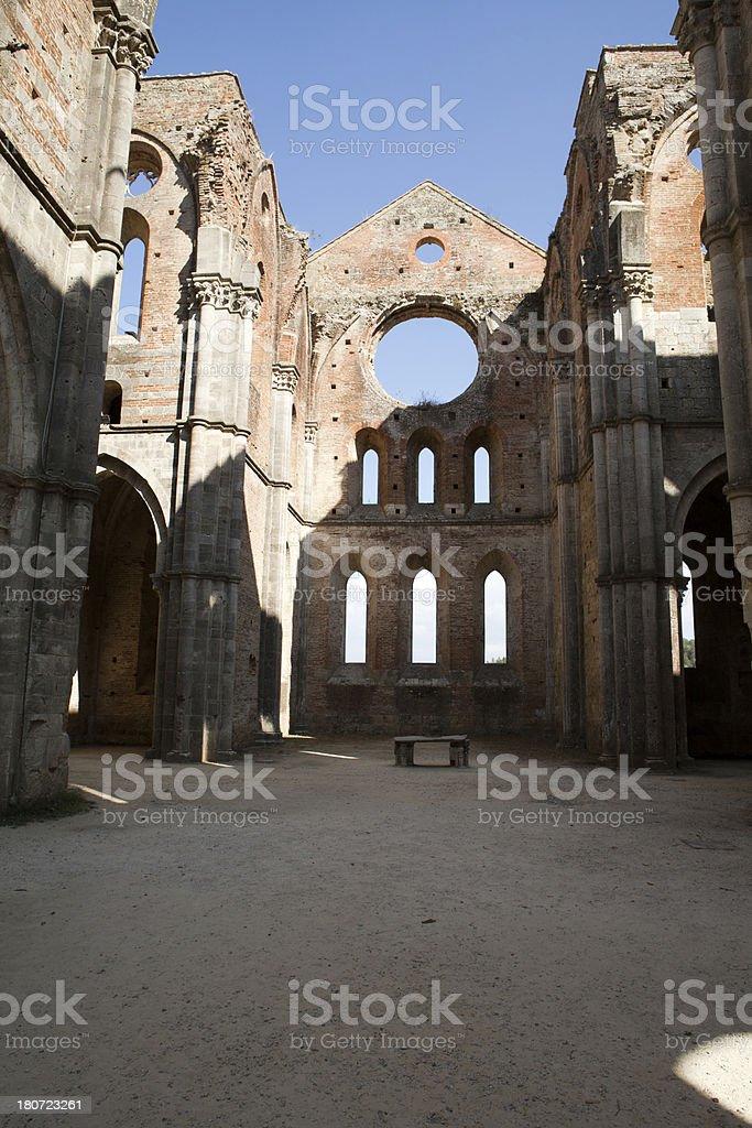 Abbey of San Galgano royalty-free stock photo
