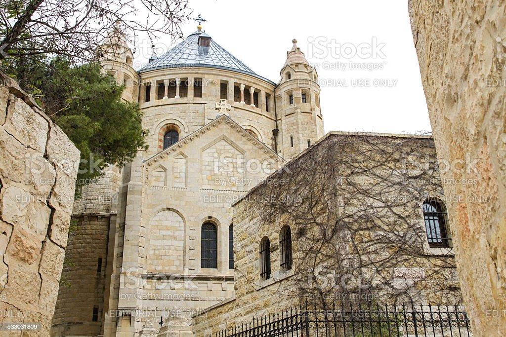 Iglesia de la dormición de Jerusalén. - foto de stock