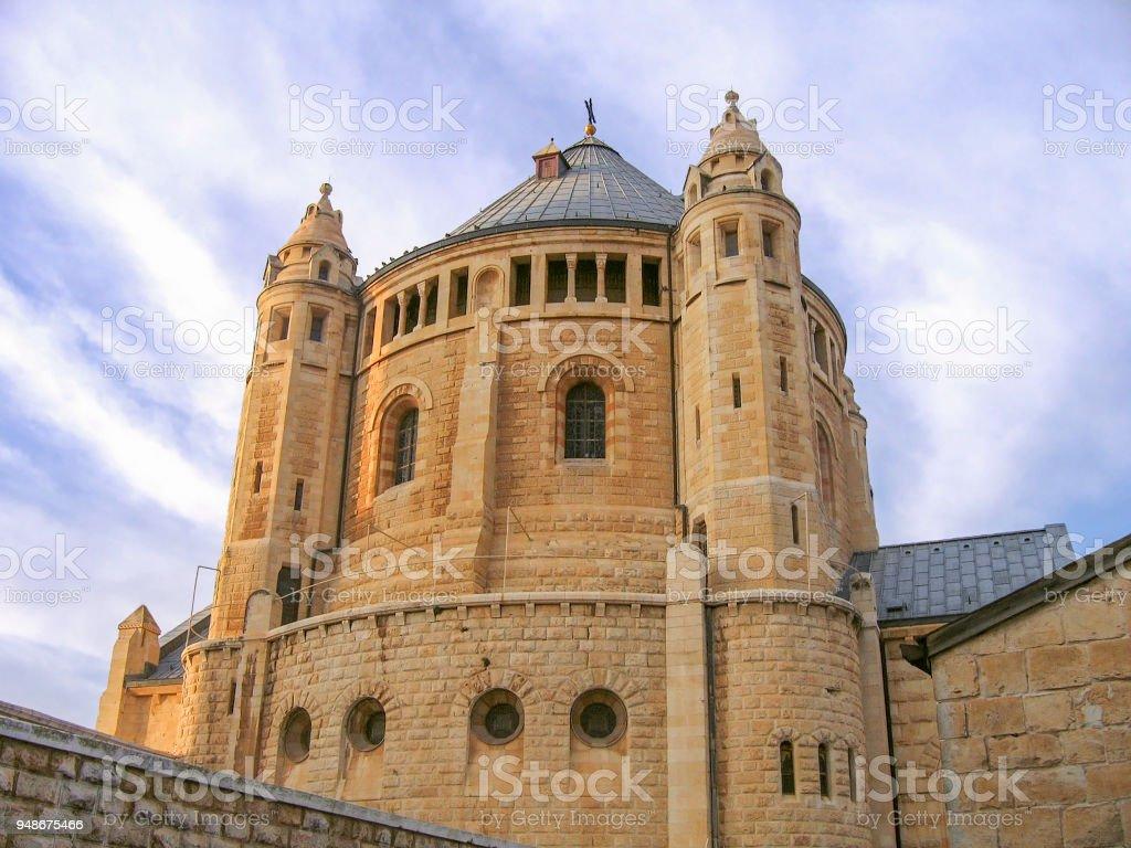 Iglesia de la dormición de jerusalén - foto de stock