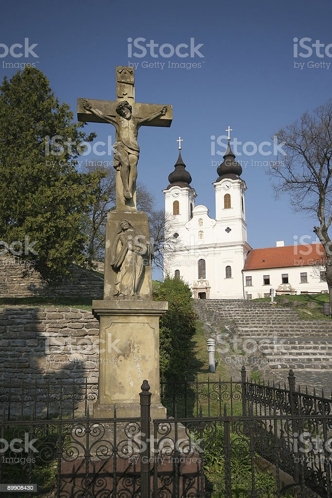 abbey of tihany royalty-free stock photo