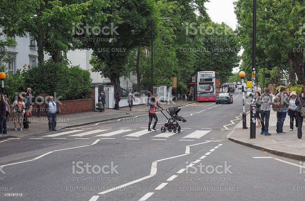 Abbey Road crossing in London stock photo