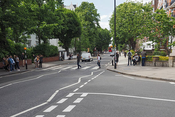Abbey Road crossing in London stock photo