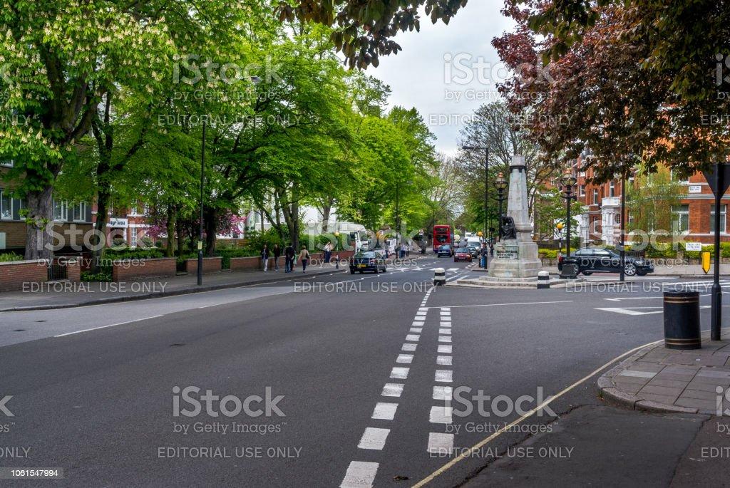 Abbey Road in London. stock photo