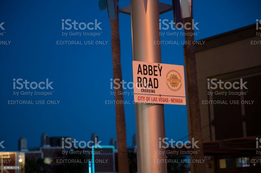 Abbey Road - Las Vegas stock photo