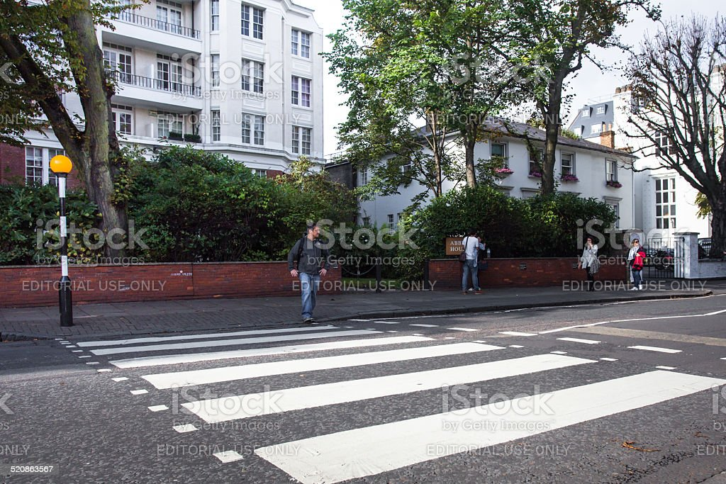 Abbey Road London stock photo