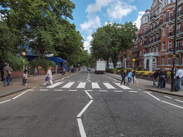 Abbey Road London UK stock photo