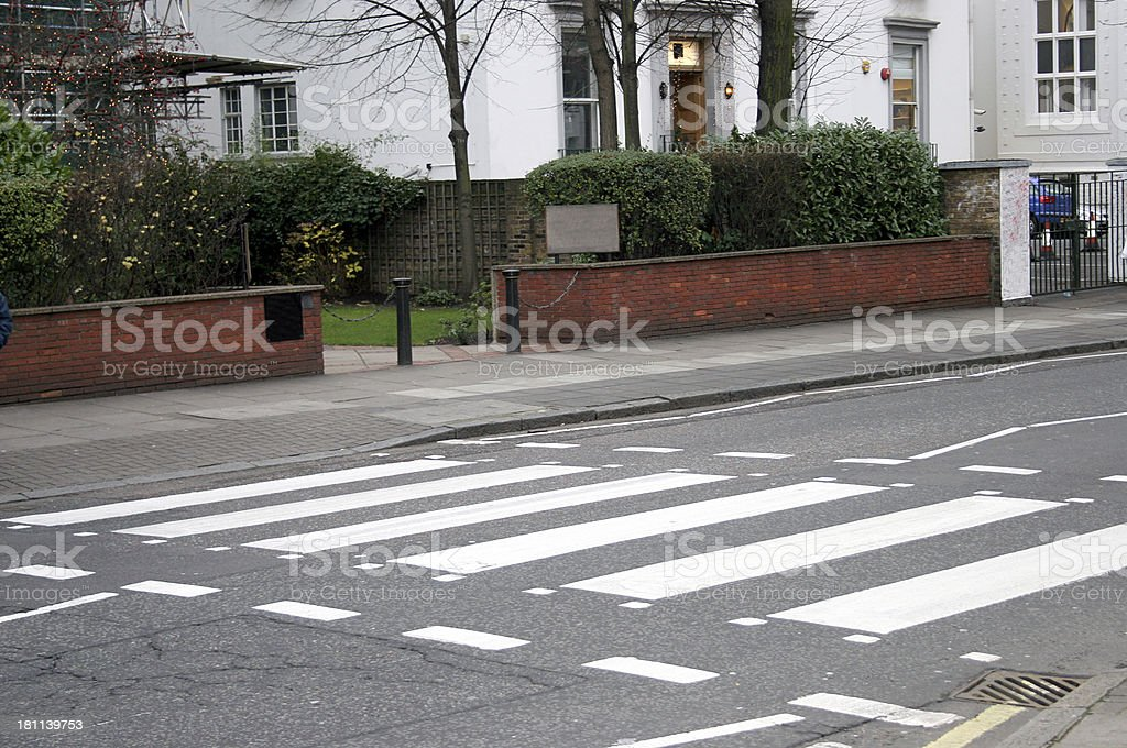 Abbey Road pedestrian crossing for the Beatles stock photo