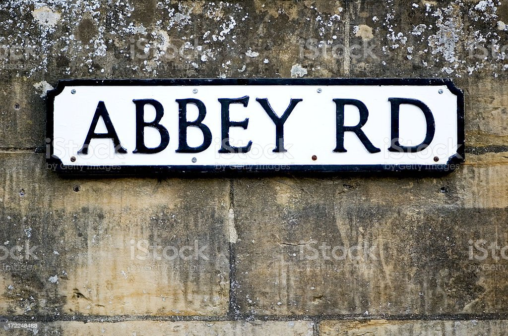 Abbey Road sign stock photo