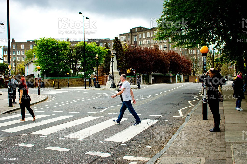 Abbey Road Studios crossing stock photo