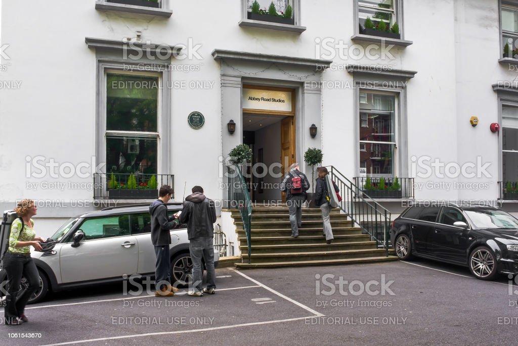 Abbey Road studios in London. stock photo