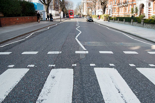 Abbey Road Zebra Crossing London UK stock photo