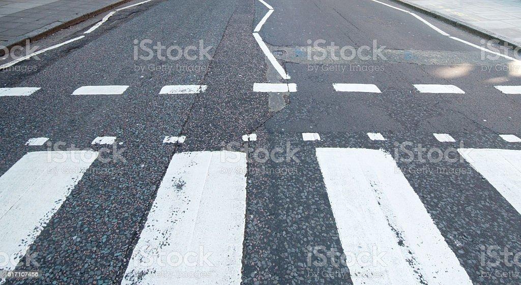 Abbey Road Zebra Crossing London UK stock photo