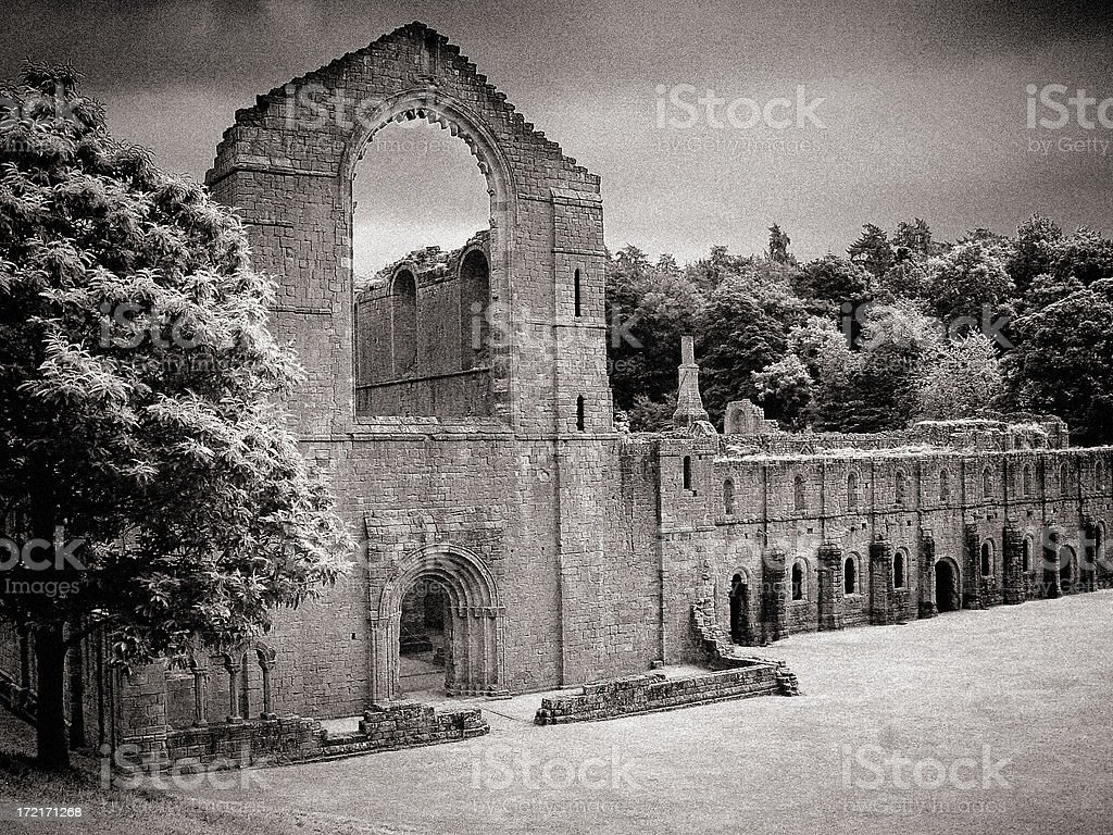 Abbey ruins royalty-free stock photo