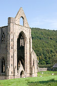 """Tintern Abbey was founded by Walter de Clare in 1131. Situated on the River Wye in Monmouthshire, it was only the second Cistercian foundation in Britain, and the first in Wales. It is one of the most spectacular ruins in the country and inspired the William Wordsworth poem """"Tintern Abbey"""",and more than one painting by J. M. W. Turner"""