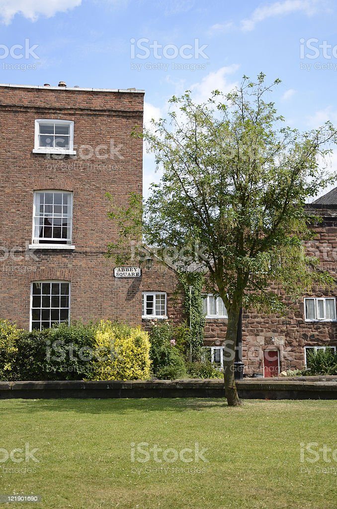 Abbey Square in English City of Chester royalty-free stock photo