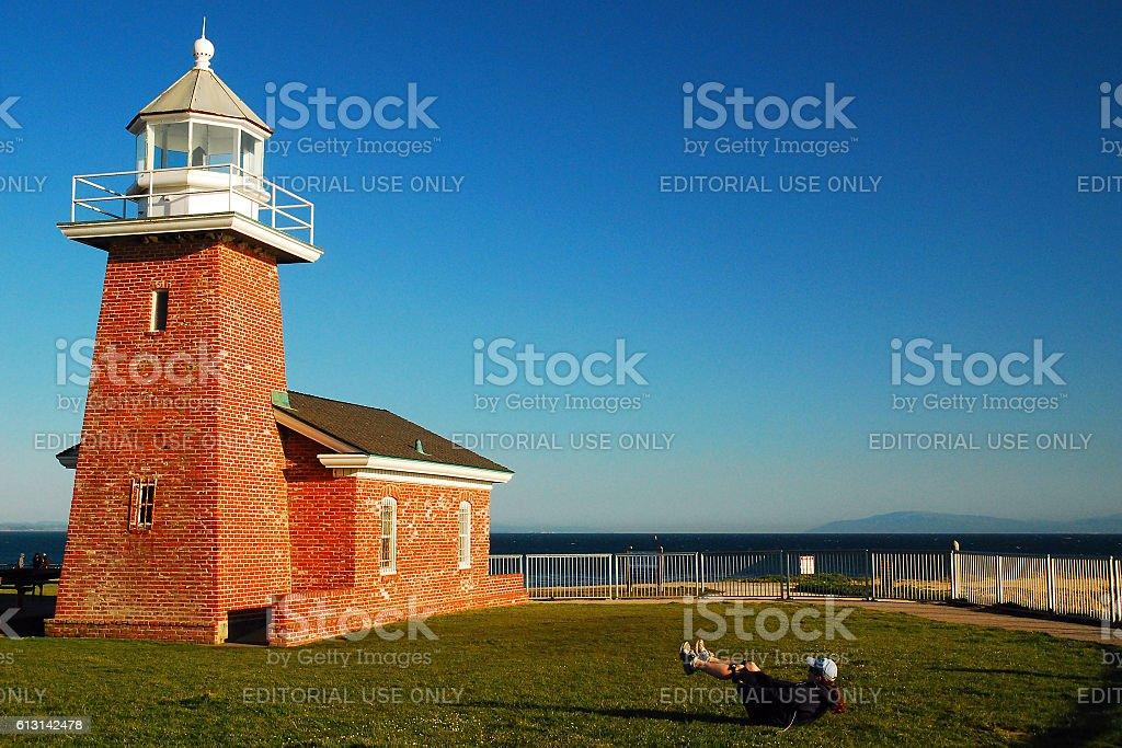 Abbot Memorial Lighthouse stock photo