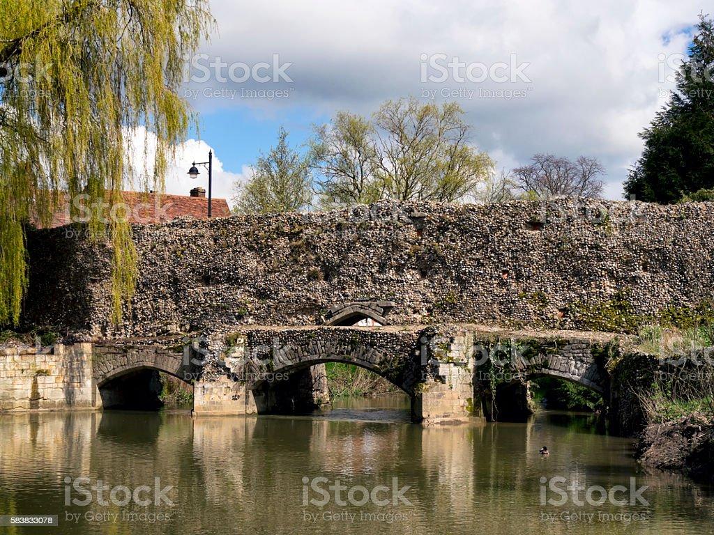 Abbot's Bridge, Bury St Edmunds stock photo