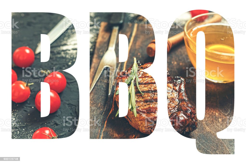 BBQ, Abbreviation, barbecue, font, design, transparency, food BB stock photo