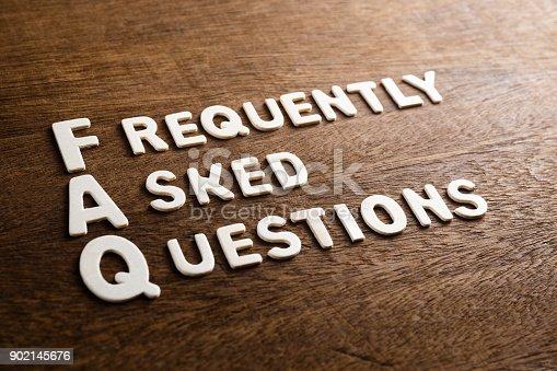istock FAQ Abbreviation Letters 902145676