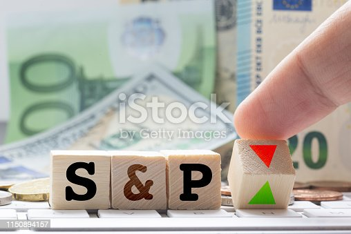 S&P abbreviation of Standard and Poor's, financial intelligence provider for financial and business ratings and indicators