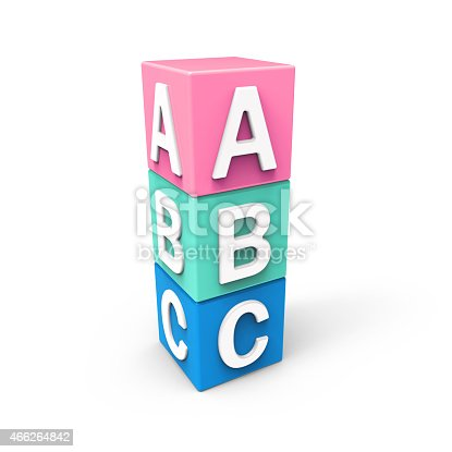 873187696 istock photo Abc  cubes on white background 466264842