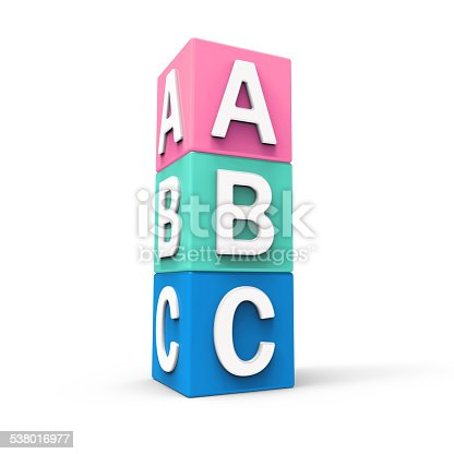 873187696 istock photo Abc cubes on white background 538016977
