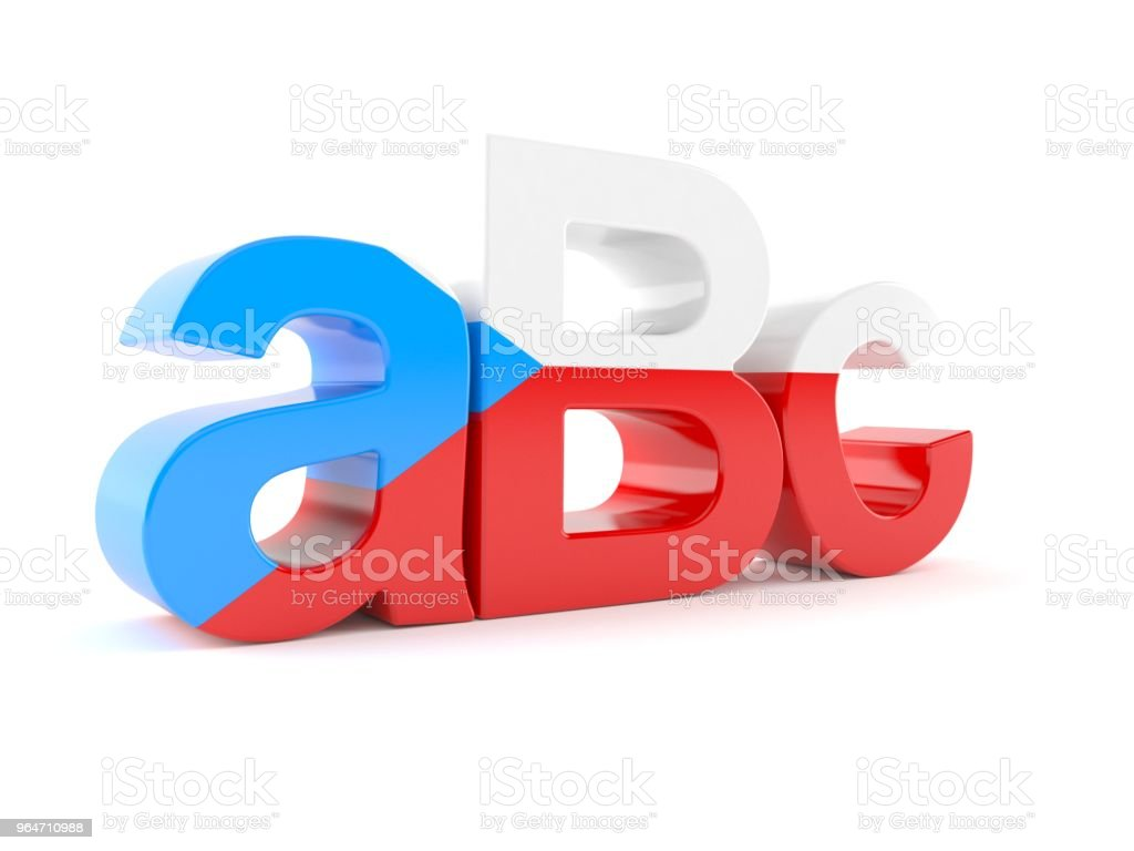 Abc text with czech flag royalty-free stock photo