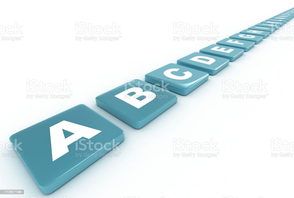 ABCs royalty-free stock photo