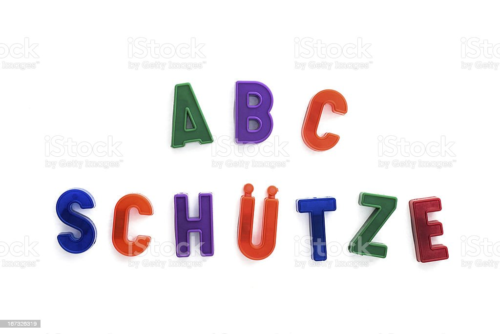 ABC-Schütze in German is the synonym for first grader pupil stock photo