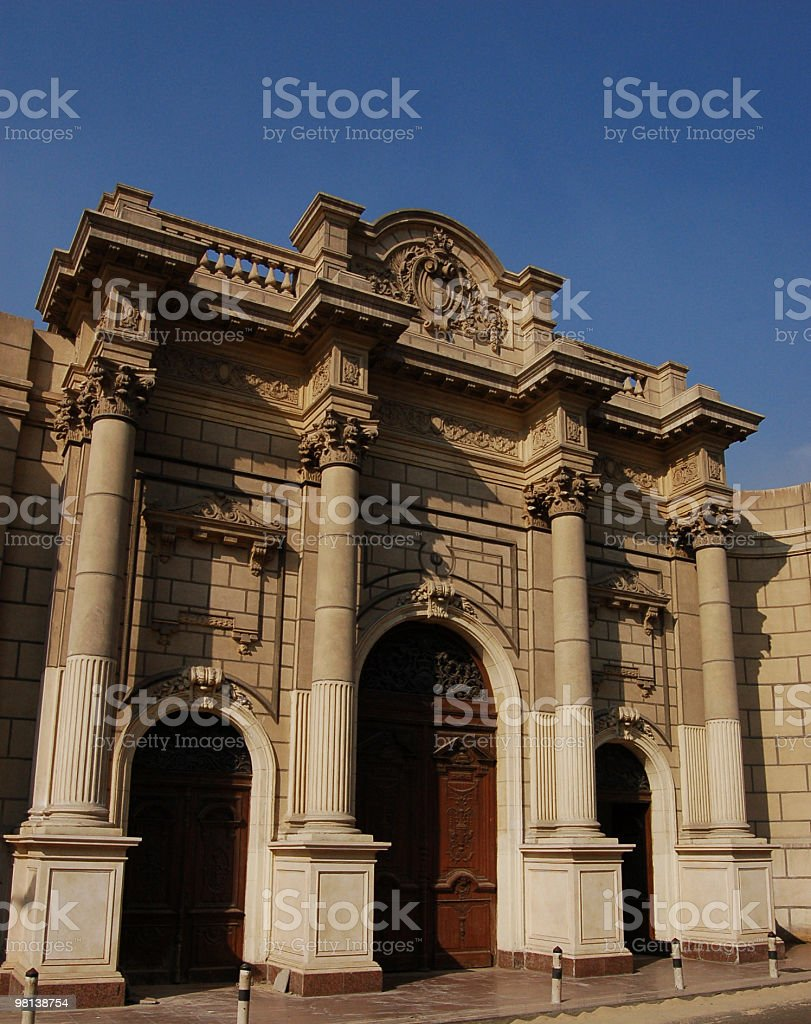 Abdeen Palace entrance royalty-free stock photo