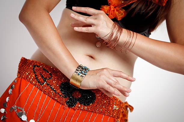 Abdomen of Dancing Belly Dancer stock photo